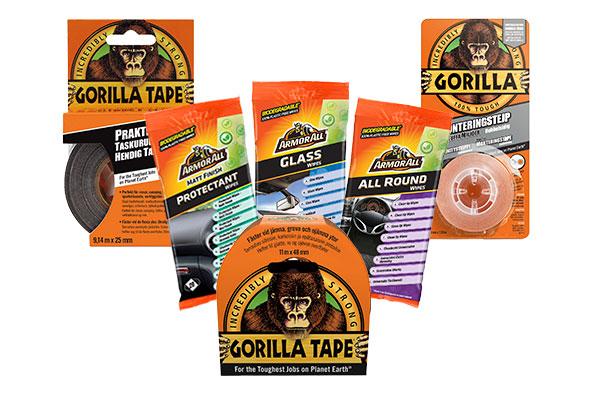 Kysytyt Armor All -liinat ja Gorilla-teipit nyt Kahalta