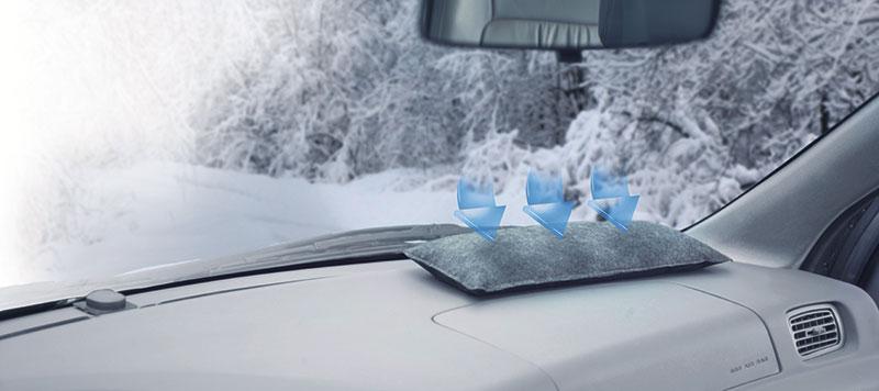 Air Dry poistaa tehokkaasti ylimääräisen kosteuden, joten tuulilasi pysyy kirkkaana.