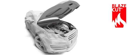 BLAZECUT -palonsammutusjärjestelmä suojaa ajoneuvon