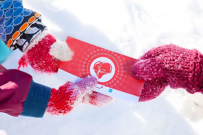 Hyvä Joulumieli -lahjakortti mahdollistaa jouluaterian vähävaraiselle perheelle.
