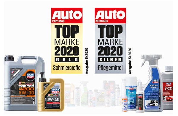 LIQUI MOLY -voiteluaineet ja -autonhoitotuotteet menestyivät Auto Zeitung -lehden lukijaäänestyksessä.