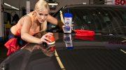 Auton maalipinta puhtaaksi ja kiiltäväksi SONAX tuotteilla