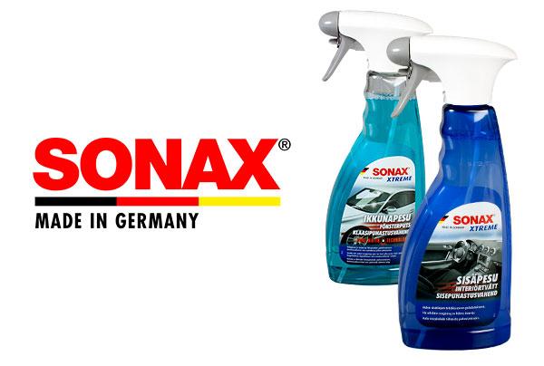 Tutut SONAX XTREME -huipputuotteet nyt uusissa pulloissa