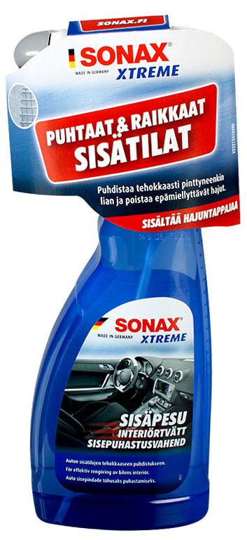 SONAX XTREME Sisäpesu saatavilla nyt uudessa sinisessä pullossa.