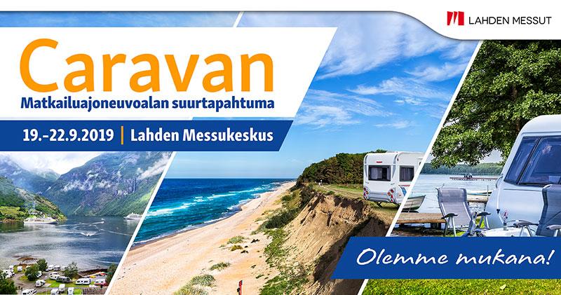 Caravan on Suomen suurin matkailuajoneuvoalan tapahtuma, joka järjestetään Lahden Messukeskuksessa torstaista sunnuntaihin 19.-22.9.2019.