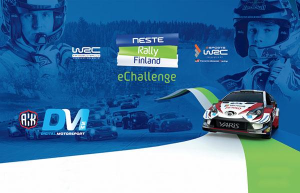 Neste Rally Finland eChallenge lauantaina Jyväskylässä